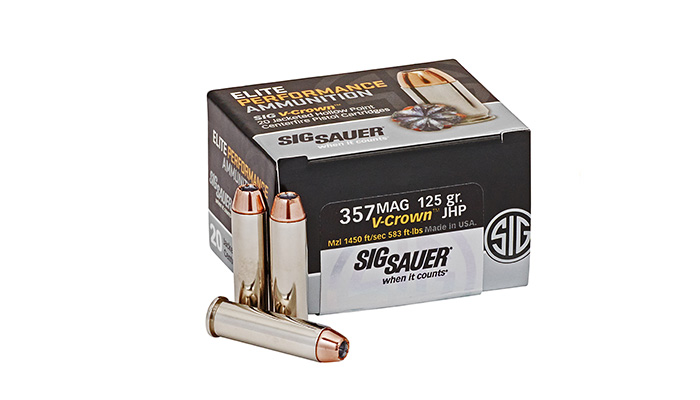 SIG – 357 MAG 125 Gr. Elite V-Crown JHP - 20 CT.