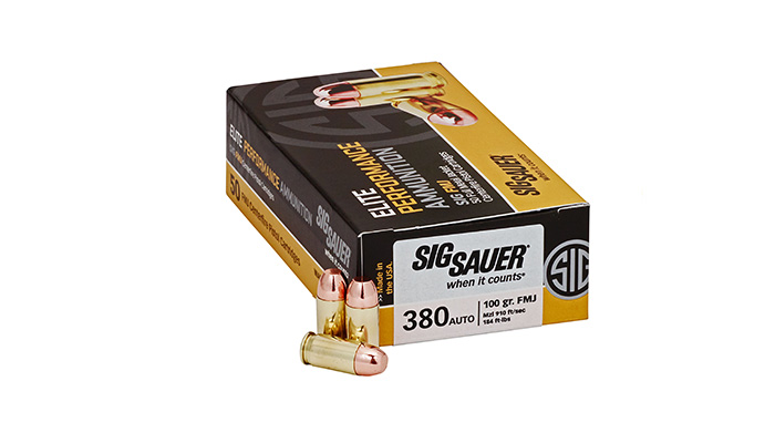 SIG – 380 ACP 100 Gr. Elite Ball FMJ - 50 CT.