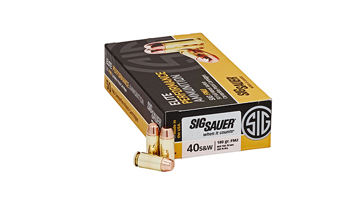 SIG – 40 S&W 180 Gr. Elite Ball FMJ - 50 CT.