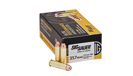 SIG – 357 MAG 125 Gr. Elite Ball FMJ - 50 CT.